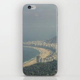 Copa Cabana Aerial View at Rio De Janeiro Brazil iPhone Skin