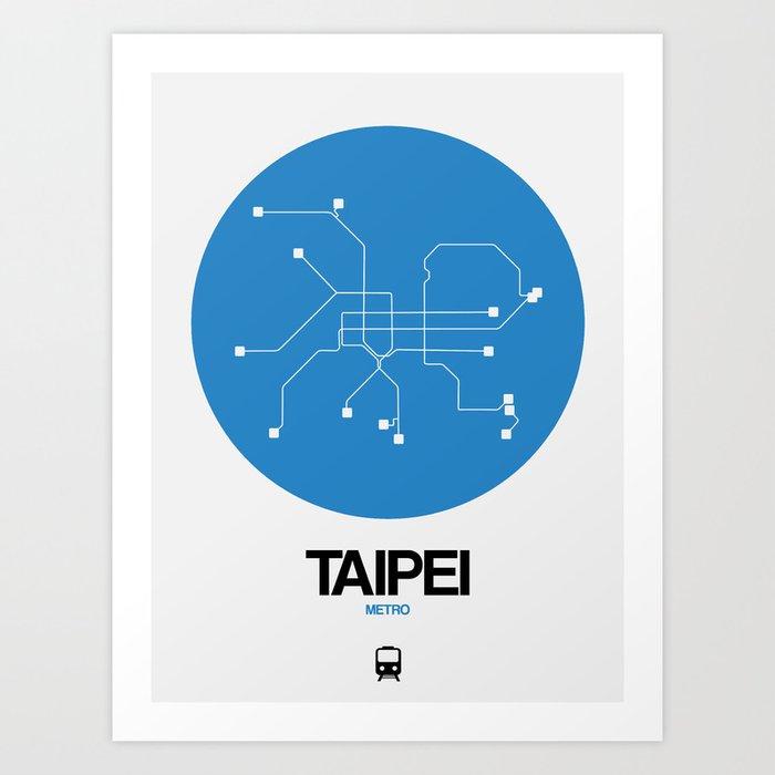 Subway Map Taipei.Taipei Blue Subway Map Art Print By Naxart