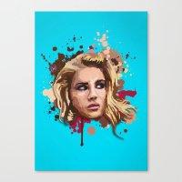 lana Canvas Prints featuring Lana by Devis Pederzini