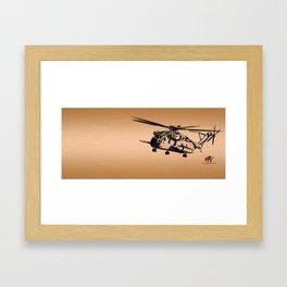 Copper CH-53 Framed Art Print