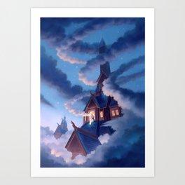Frigg, Weaver of Clouds Art Print