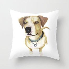 Watercolour Dog Throw Pillow