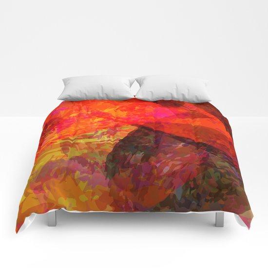 flames2 Comforters
