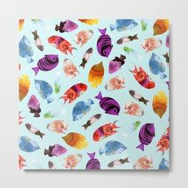Fish shaped Flowers Metal Print