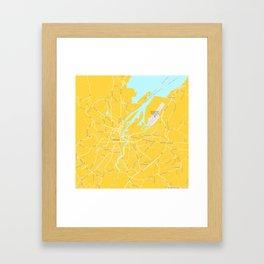 Minimalist Modern Map of Belfast, Ireland Framed Art Print