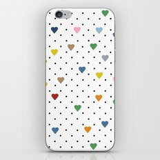 Pin Point Hearts iPhone & iPod Skin