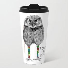 loves to knit Travel Mug