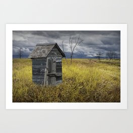 Rural Outhouse langishing in the Countryside Art Print