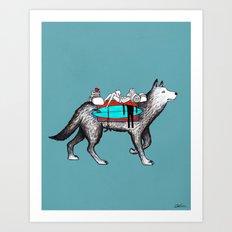 Wolf Trip Art Print