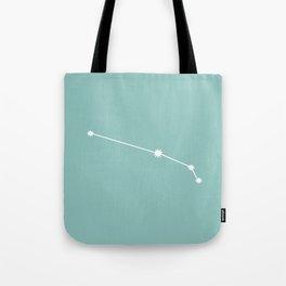 Aries Zodiac Constellation - Teal Tote Bag