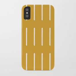 Mudcloth (Mustard Yellow) iPhone Case