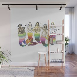 mermaid team Wall Mural