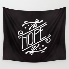 Nope Feminist Art Nouveau Ornate Hand Lettering Quote Wall Tapestry