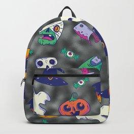 black glitter halloween pattern. Backpack