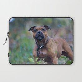 STAFFY DOG IN WOODLAND Laptop Sleeve