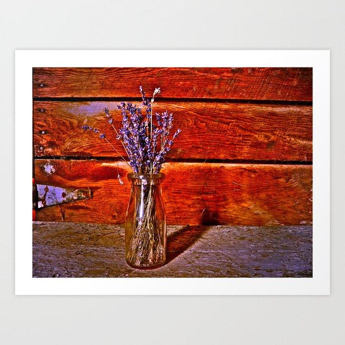Milk Bottle Vase Art Print