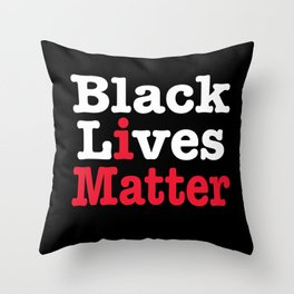 BLACK LIVES MATTER (inverse version) Throw Pillow