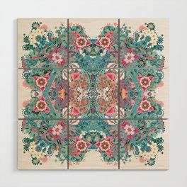 Blossoming Mandala Wood Wall Art