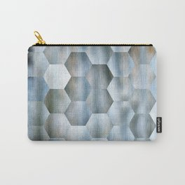 Blue Hex Pattern Carry-All Pouch
