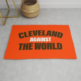 Cleveland Against The World Football Rug