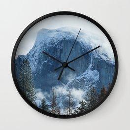 Ice-capped Half Dome at Sunrise | Yosemite National Park, California Wall Clock