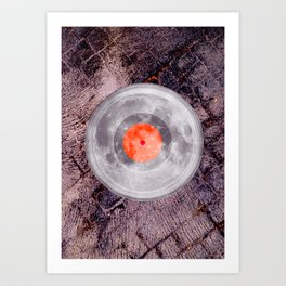 LP Moon Over Lava Dance Floor Art Print