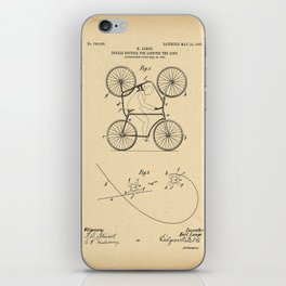 1905 Patent Bicycle Velocipede iPhone Skin