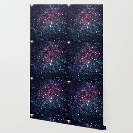 Galaxy Stars : Subtle Purple Mauve Pink Teal Wallpaper