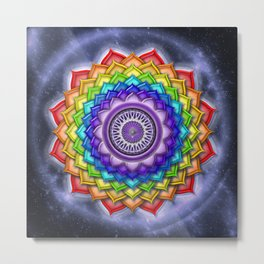 Open Crown Chakra - Rainbow Colors Metal Print