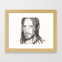 jared... wet. Framed Art Print
