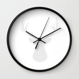 Deer - gray strips. Wall Clock