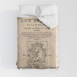 Cervantes. Don Quijote, 1605. Duvet Cover