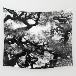 Tree of Japan (black and white edit) Wall Tapestry