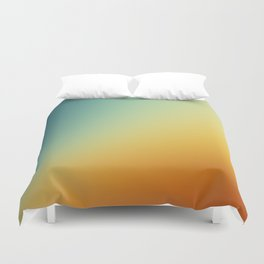 Gradient Colours: Orange Blue Duvet Cover