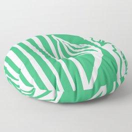 Long Leaf Stripe green Floor Pillow