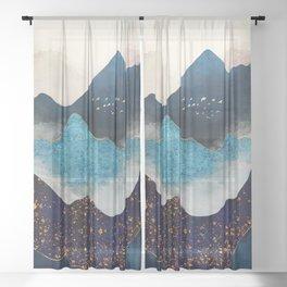 Indigo Peaks Sheer Curtain