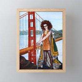 Superheroes SF Framed Mini Art Print