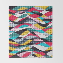 Pop Art Waves Throw Blanket