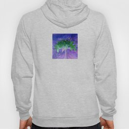 Field flower-blue and violet background Hoody