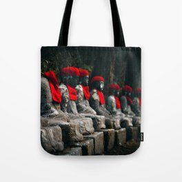 Nikko Jizo Statues Tote Bag