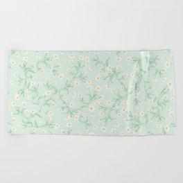 Oxeye (Mint) Beach Towel