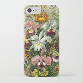 Victorian Orchids Floral Print-Ernst Haeckel iPhone Case