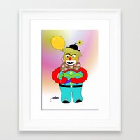 clown Framed Art Prints featuring Clown by LoRo  Art & Pictures