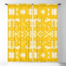 Yellow Oxford Shibori Blackout Curtain