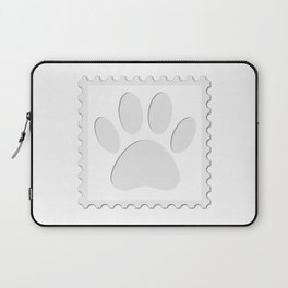 Dog Paw Print Cut Out Laptop Sleeve