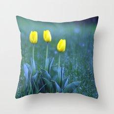 yellow flowers. Throw Pillow