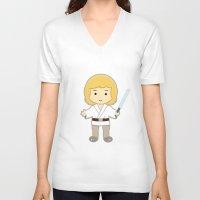luke hemmings V-neck T-shirts featuring Luke by Jasmine Victoria