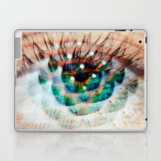 Green Eyes Hypnotize  Laptop & iPad Skin