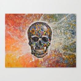 Abstract modern art painting ... Skull Canvas Print