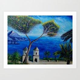 All Blue On Amalfi Coast Italy Art Print
